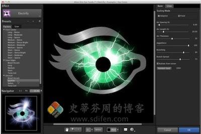 Alien Skin Eye Candy 主界面